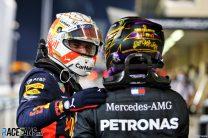 Max Verstappen, Lewis Hamilton, Yas Marina, 2020