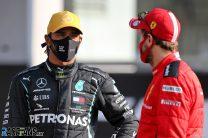 Lewis Hamilton, Sebastian Vettel, Yas Marina, 2020