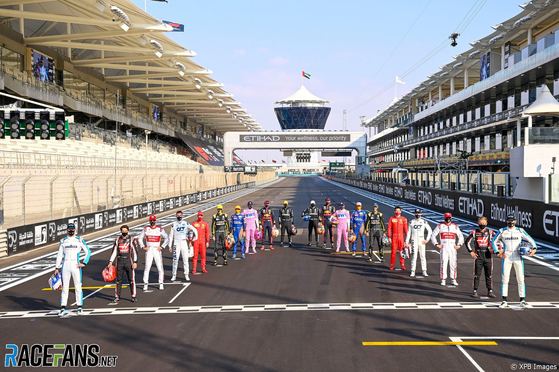 Drivers, Yas Marina, 2020