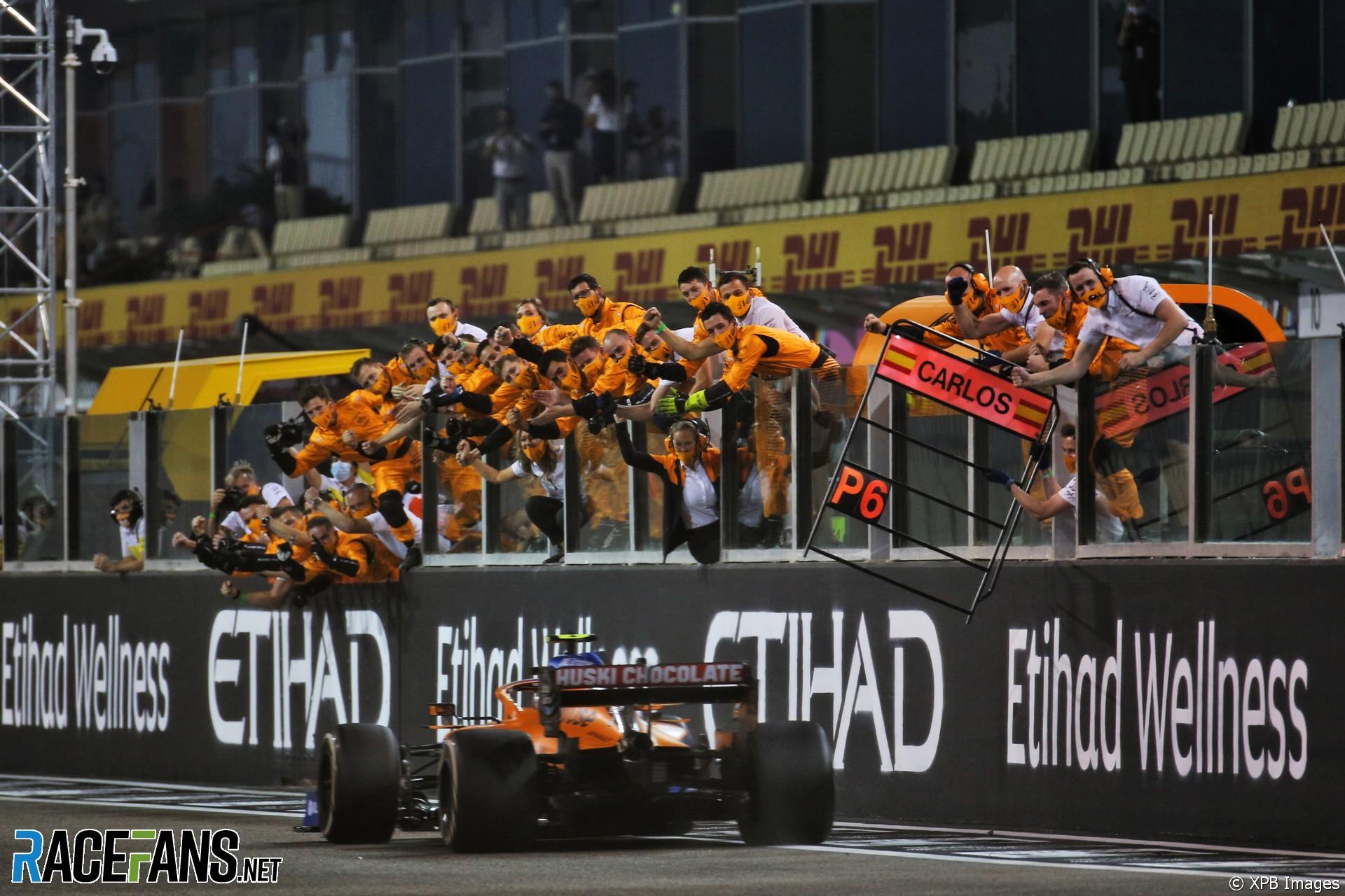 Lando Norris, McLaren, Yas Marina, 2020