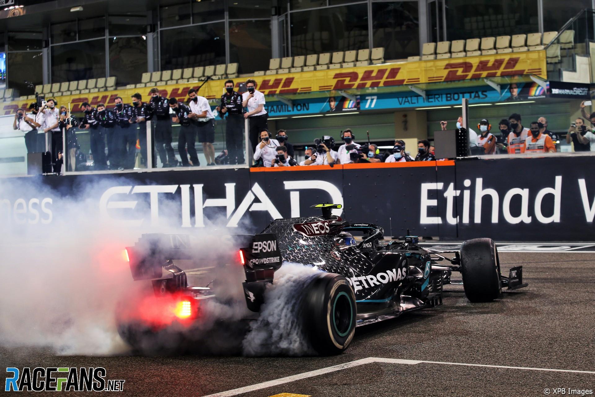 Valtteri Bottas, Mercedes, Yas Marina, 2020
