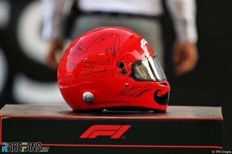 Helmet for Chase Carey, Yas Marina, 2020