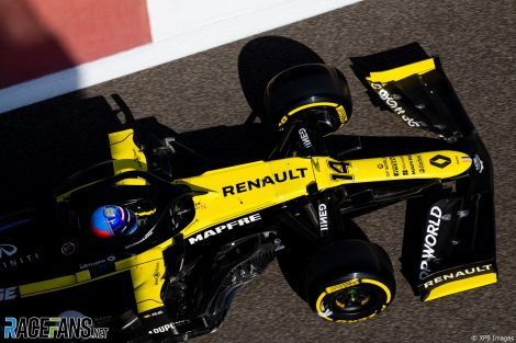 Fernando Alonso, Renault, Yas Marina, 2020