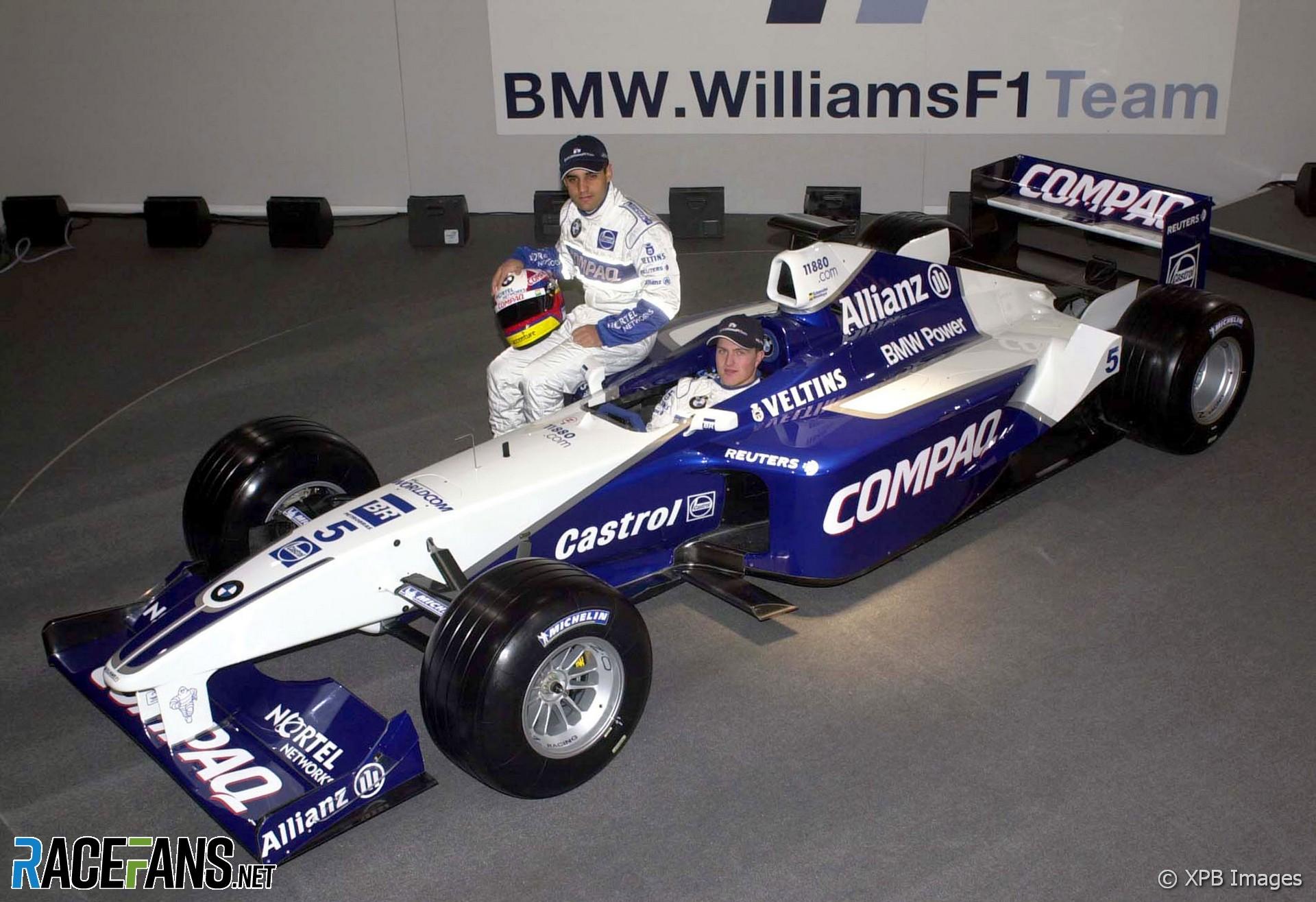Juan Pablo Montoya, Ralf Schumacher, Williams FW23 launch, 2001