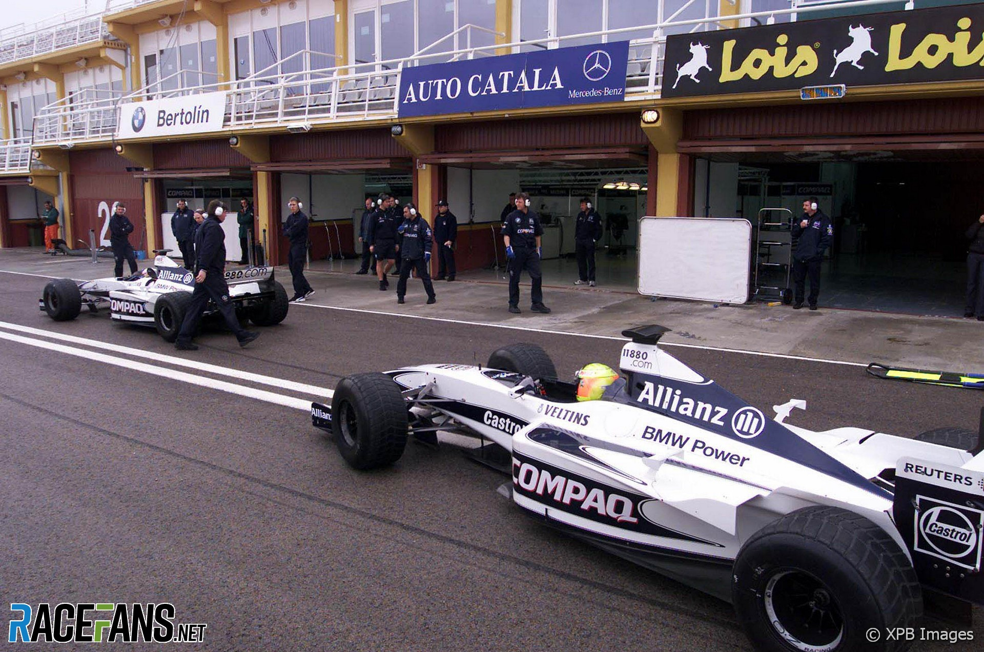 Juan Pablo Montoya, Ralf Schumacher, Williams, Valencia, 2001