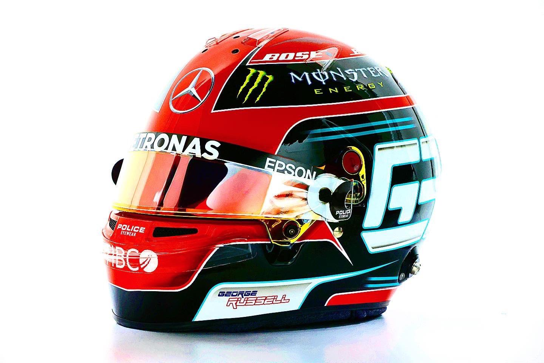 George Russell's Sakhir Grand Prix helmet