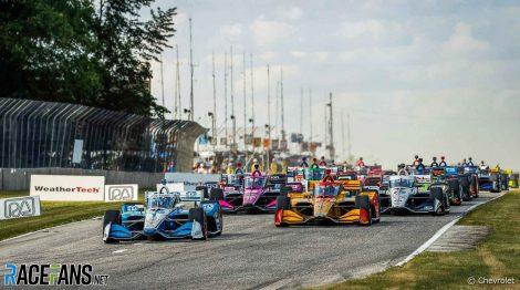 Start, Road America, IndyCar, 2020