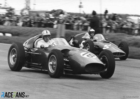 Roy Salvadori, Aston Martin, Silverstone, 1960