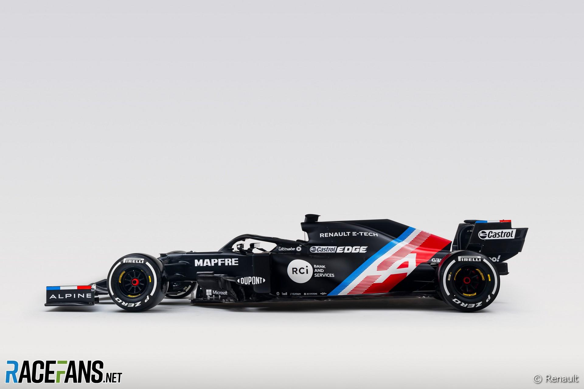 Alpine interim 2021 F1 livery