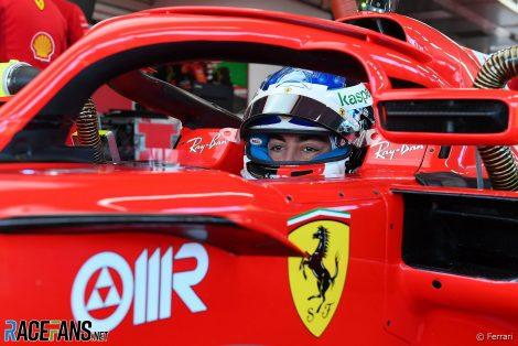 Giuliano Alesi, Ferrari, Fiorano, 2021