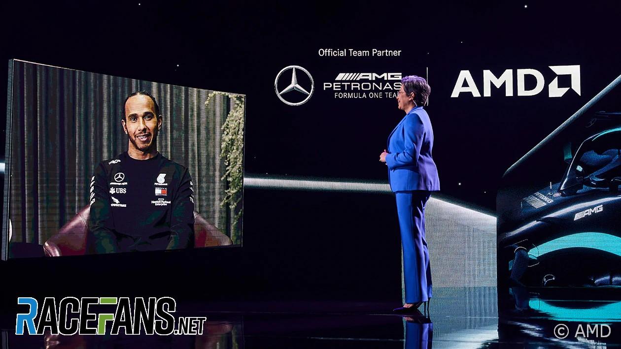 Lewis Hamilton, Lisa Su, AMD keynote, CES, 2021
