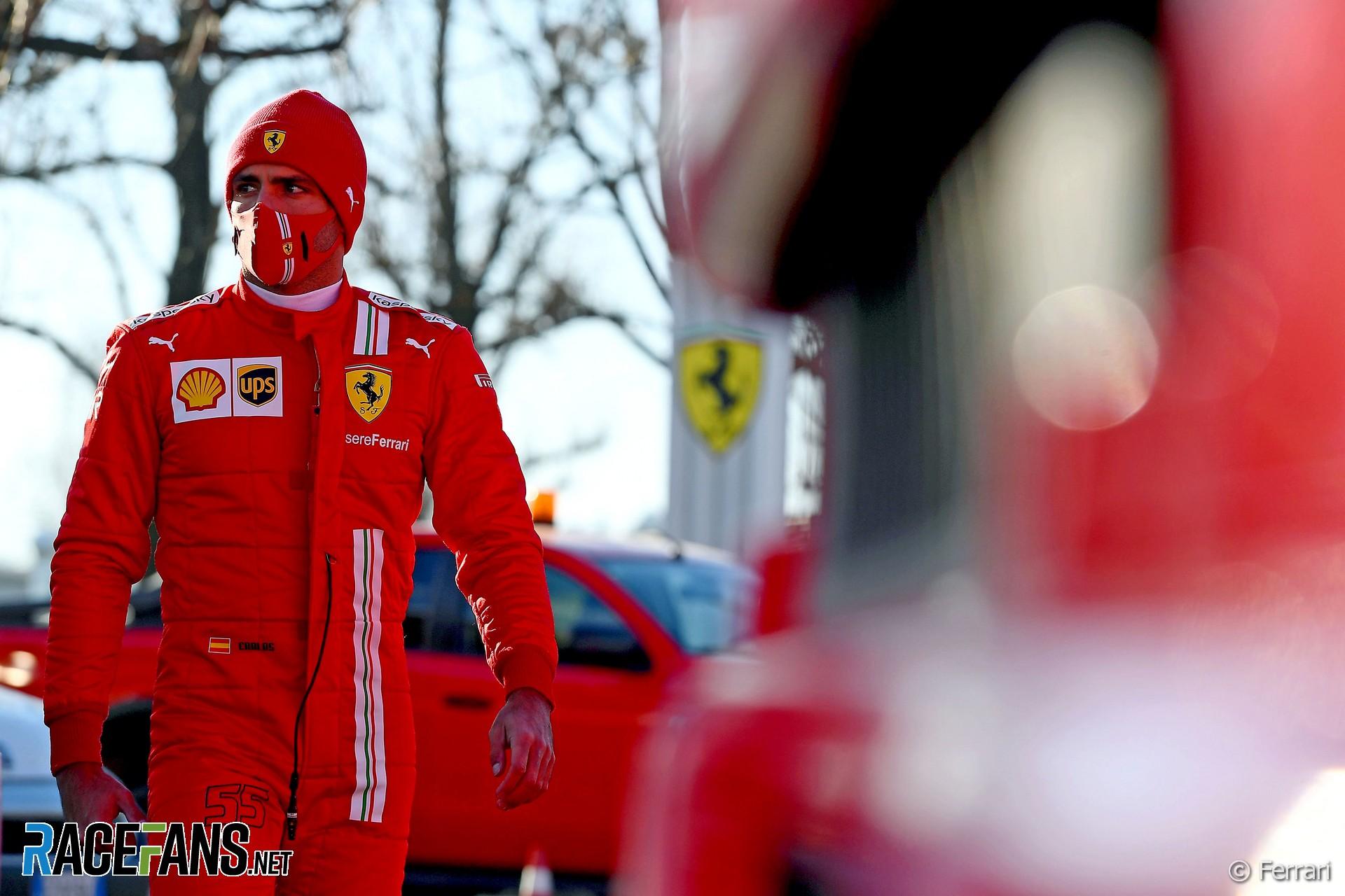 Carlos Sainz Jnr, Ferrari, Fiorano, 2021