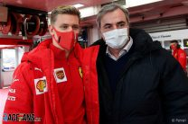 Mick Schumacher, Carlos Sainz, Ferrari, Fiorano, 2021