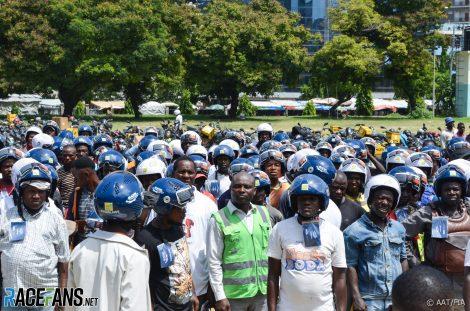 FIA helmet distribution programme, Tanzania