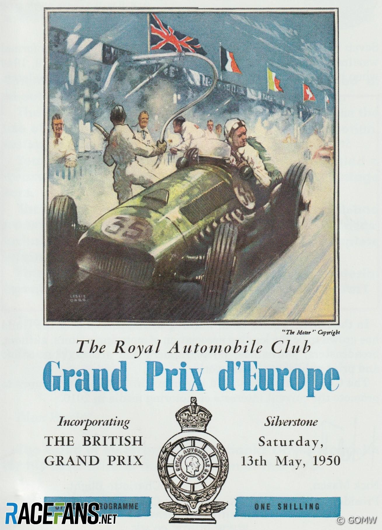 1950 British Grand Prix programme