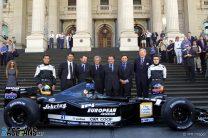 Tarso Marques, Paul Stoddart, Fernando Alonso, Minardi, Melbourne, 2001