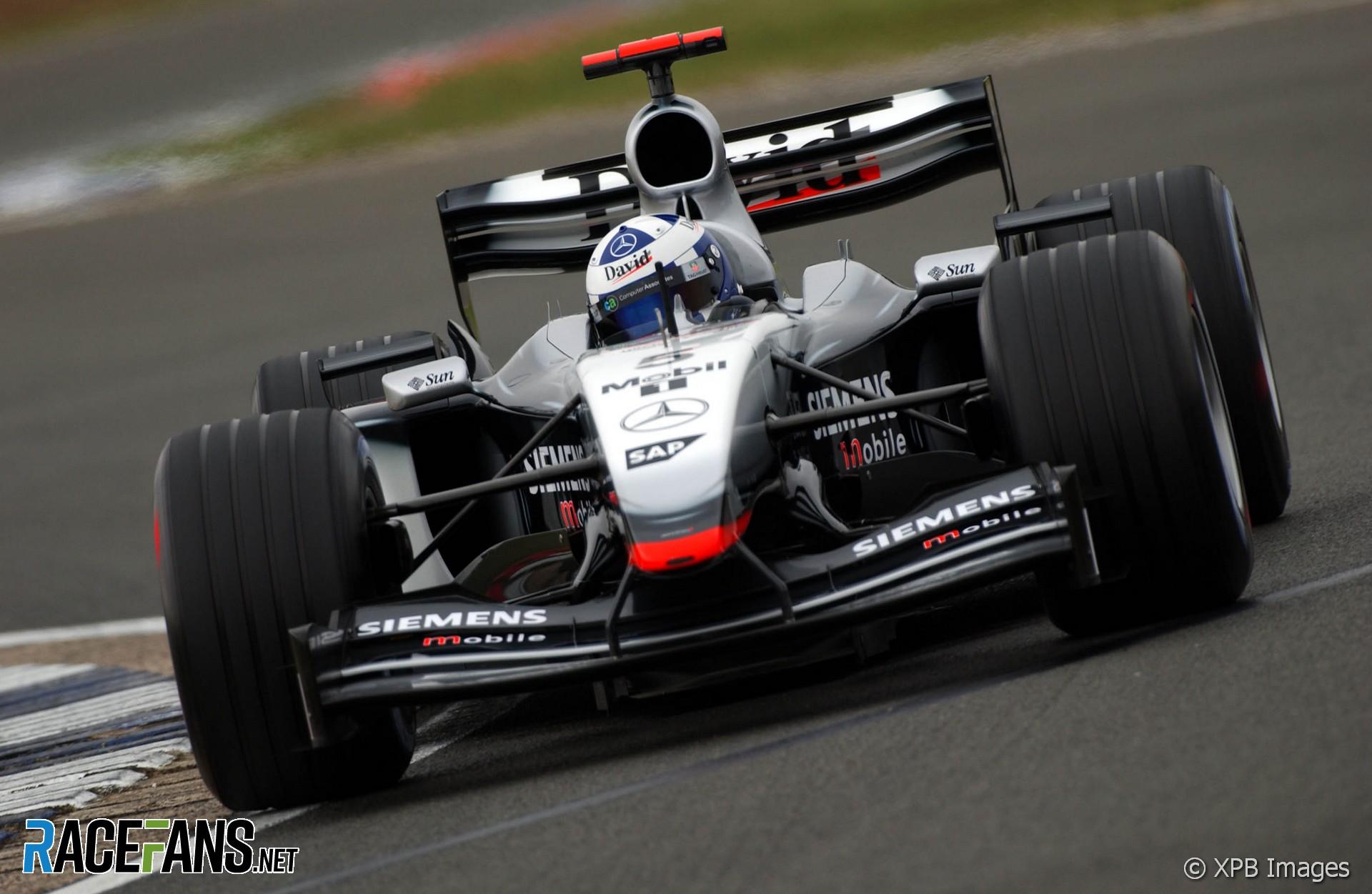 David Coulthard, McLaren, Silverstone, 2003