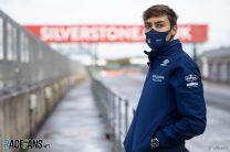 George Russell, Williams FW43B shakedown, Silverstone, 2021