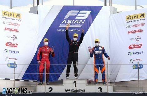 Patrick Pasma, Guanyu Zhou, Jehan Daruvala, Yas Marina, Asian F3, 2021