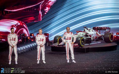Antonio Giovinazzi, Kimi Raikkonen, Robert Kubica, Alfa Romeo launch, 2021