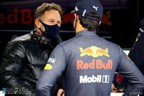 Christian Horner, Sergio Perez, Red Bull, Silverstone, 2021