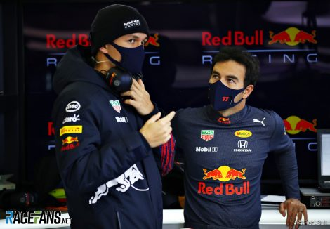 Alexander Albon, Sergio Perez, Red Bull, Silverstone, 2021