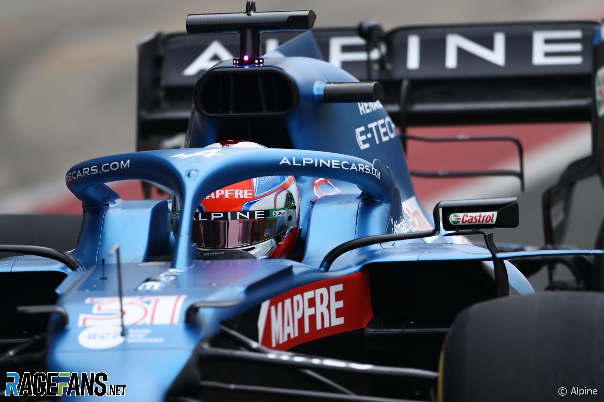 Esteban Ocon, Alpine, Silverstone, 2021
