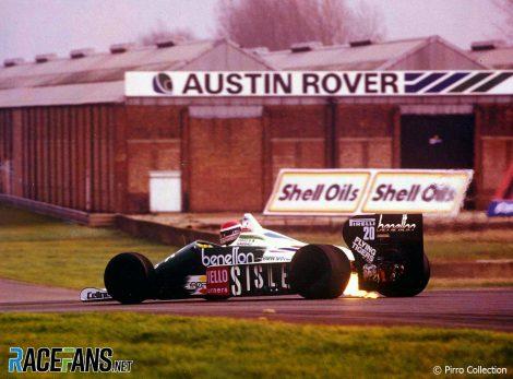 Emanuele Pirro, Benetton, 1986