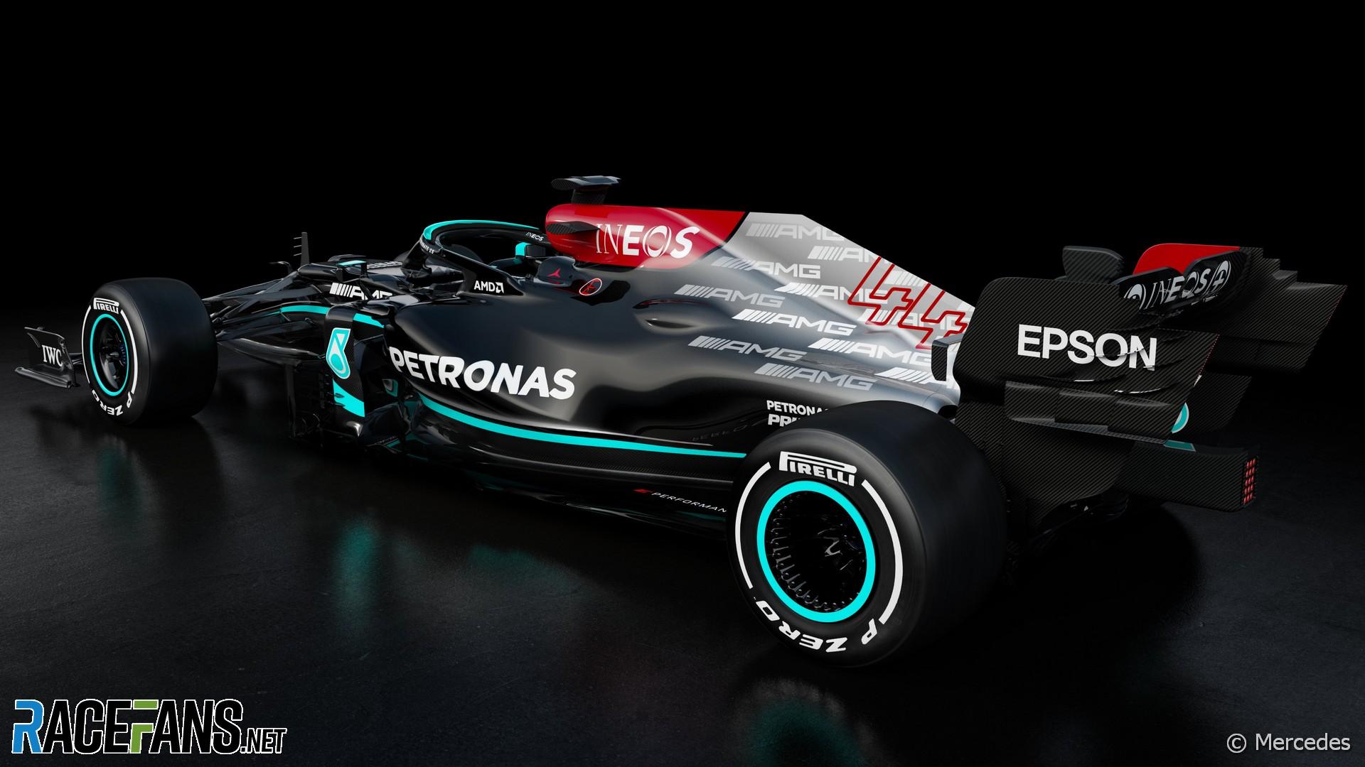 Mercedes W12 rendering, 2021