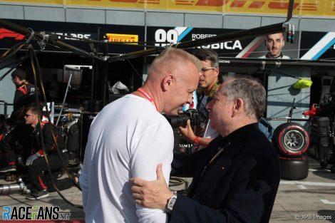 Dmitry Mazepin, Jean Todt, Monza, 2019