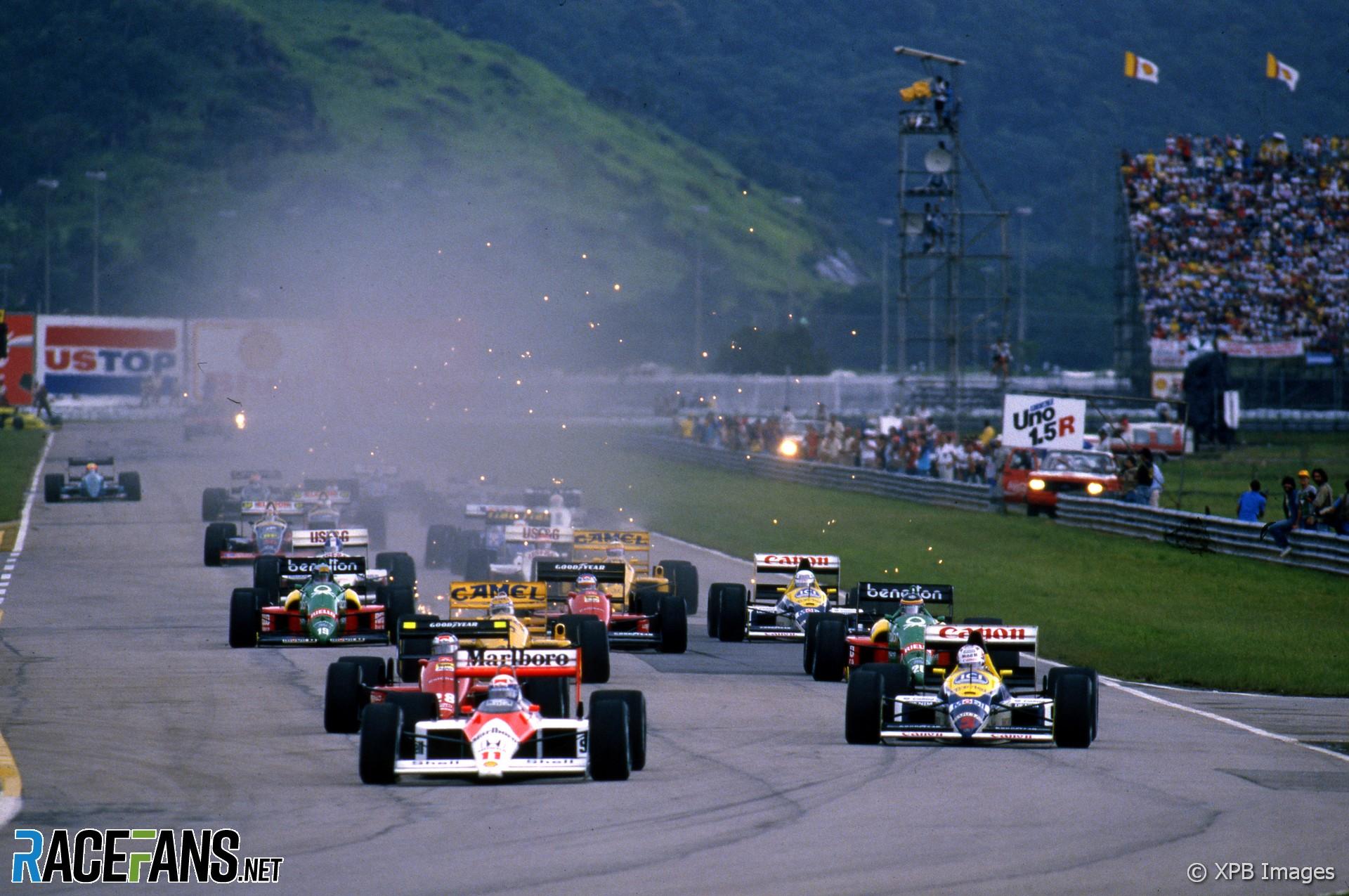 Start, Brazilian Grand Prix, Jacarepagua, 1989