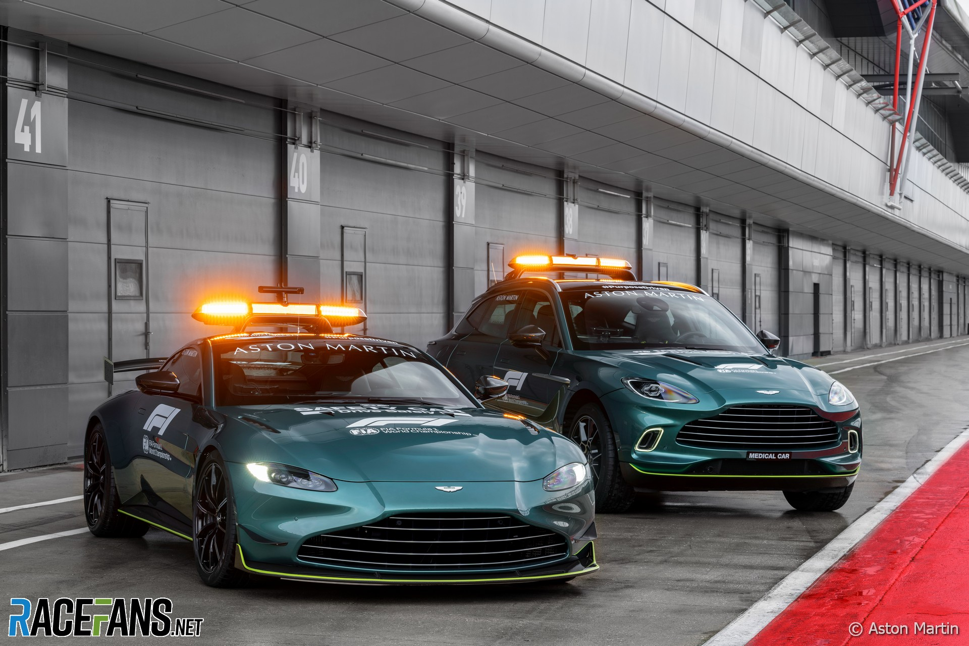 Aston Martin Safety Car and Medical Car