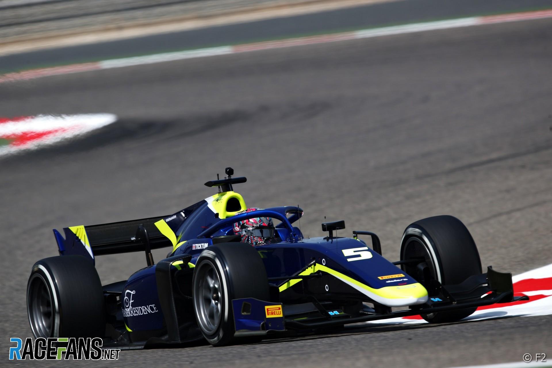 Dan Ticktum, Carlin, Formula 2 testing, 2021