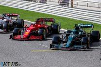 Mercedes and Ferrari, Bahrain International Circuit, 2021