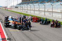 F1 drivers and cars, Bahrain International Circuit, 2021