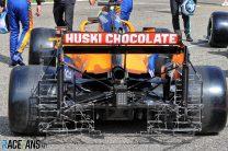 McLaren MCL35M rear wing, Bahrain International Circuit, 2021