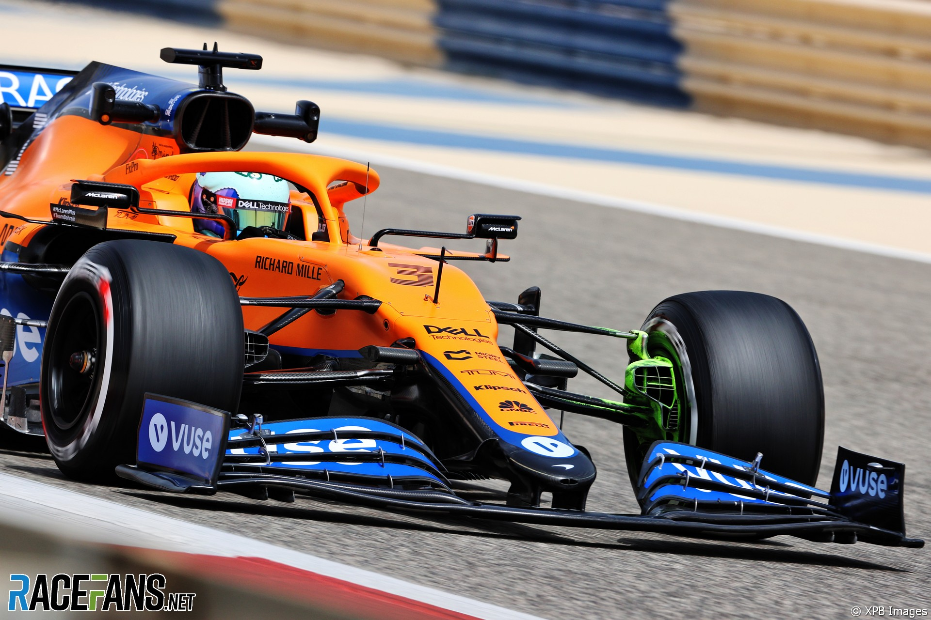 Daniel Ricciardo, McLaren, Bahrain International Circuit, 2021