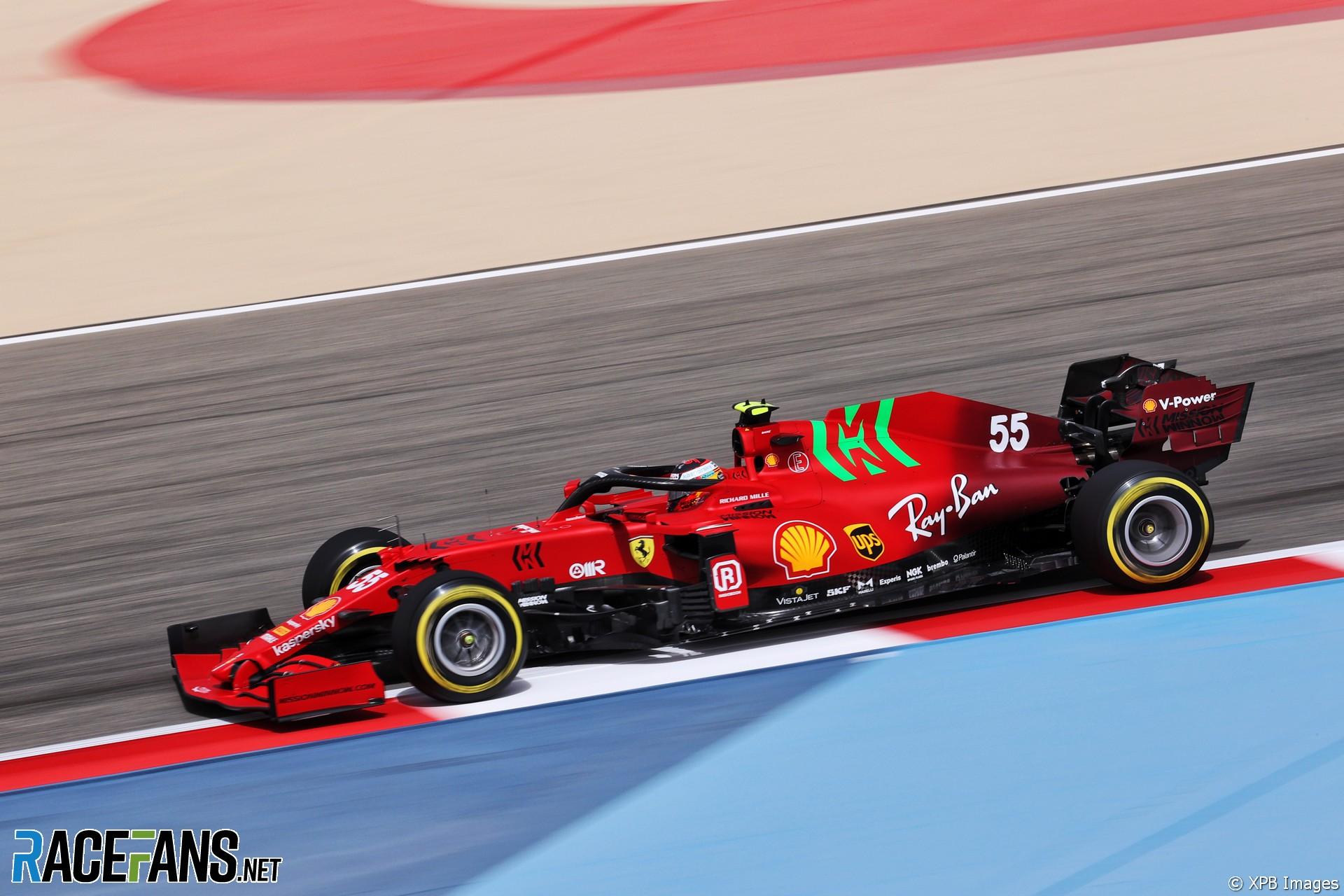 Carlos Sainz Jnr, Ferrari, Bahrain International Circuit, 2021 · RaceFans
