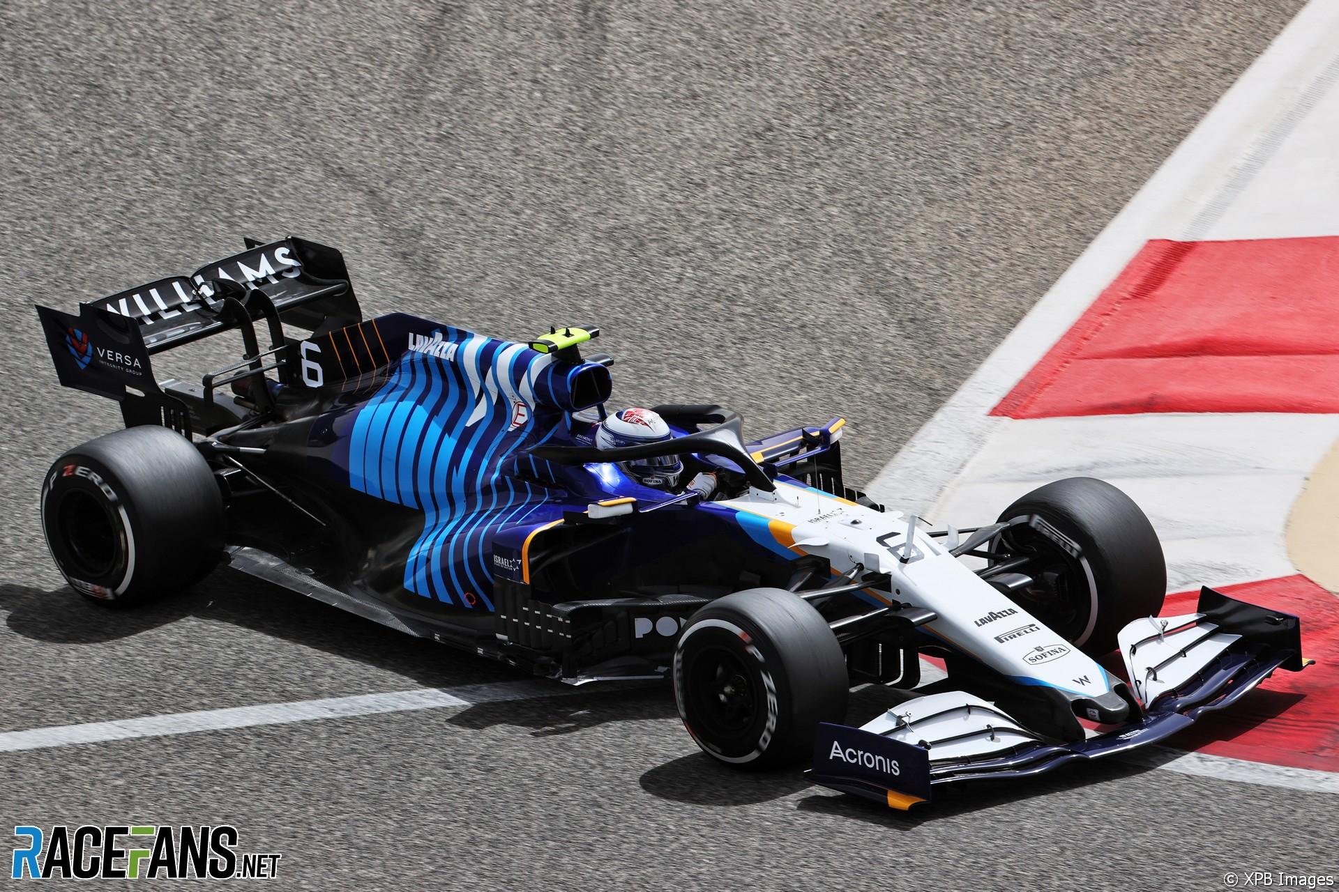 Nicholas Latifi, Williams, Circuito Internacional de Baréin, 2021