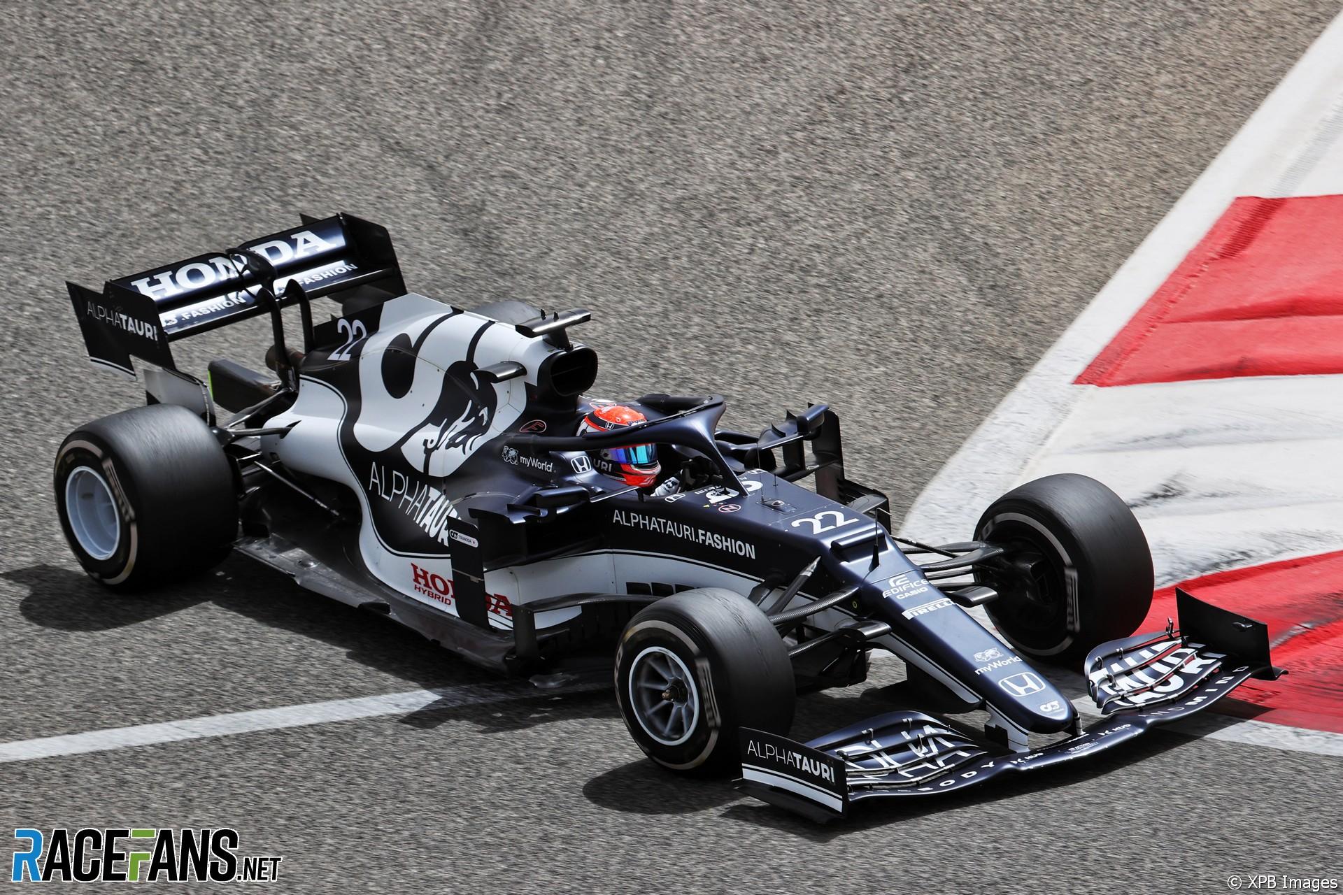Yuki Tsunoda, AlphaTauri, Circuito Internacional de Baréin, 2021