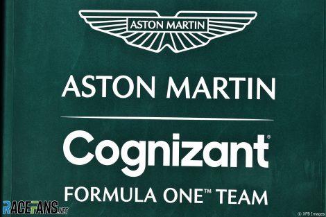 Aston Martin logo, Bahrain International Circuit, 2021