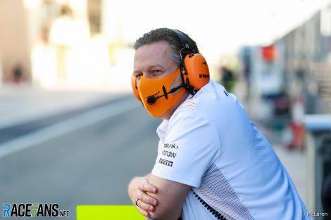 Zak Brown, McLaren, Bahrain International Circuit, 2021