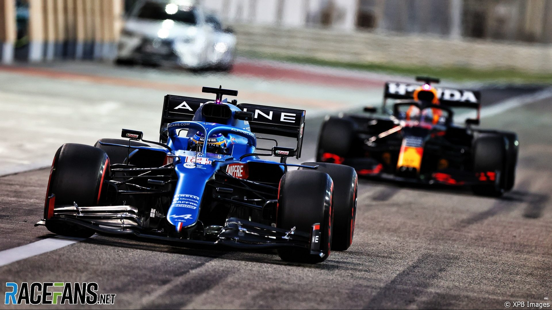 Fernando Alonso, Alpine, Bahrain International Circuit, 2021