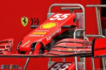 Ferrari SF-21 front wing, Bahrain International Circuit, 2021