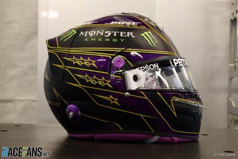 Lewis Hamilton's 2021 F1 helmet