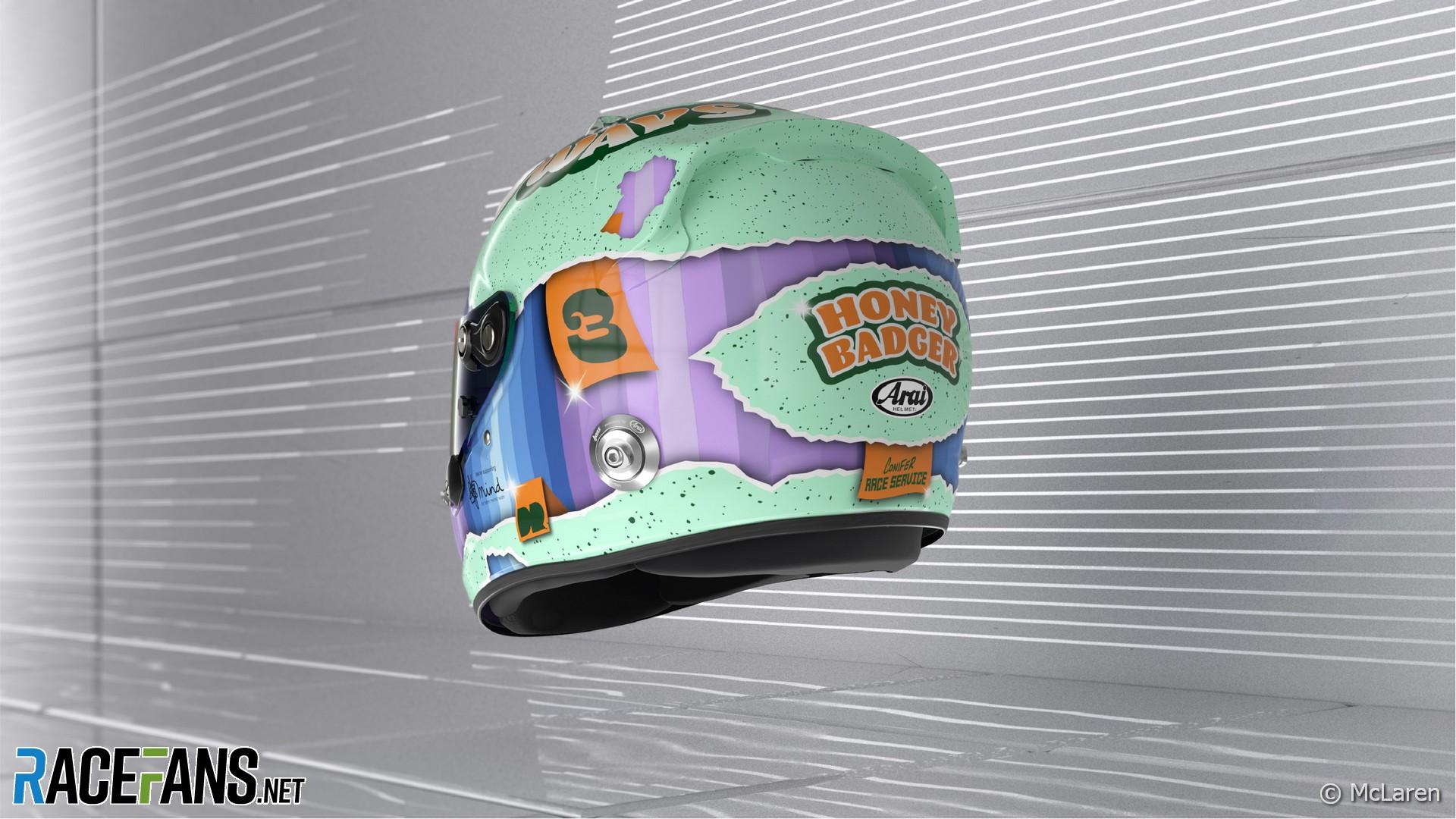 Daniel Ricciardo's 2021 F1 helmet