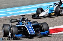 Zhou passes Verschoor for win in action-packed F2 feature race