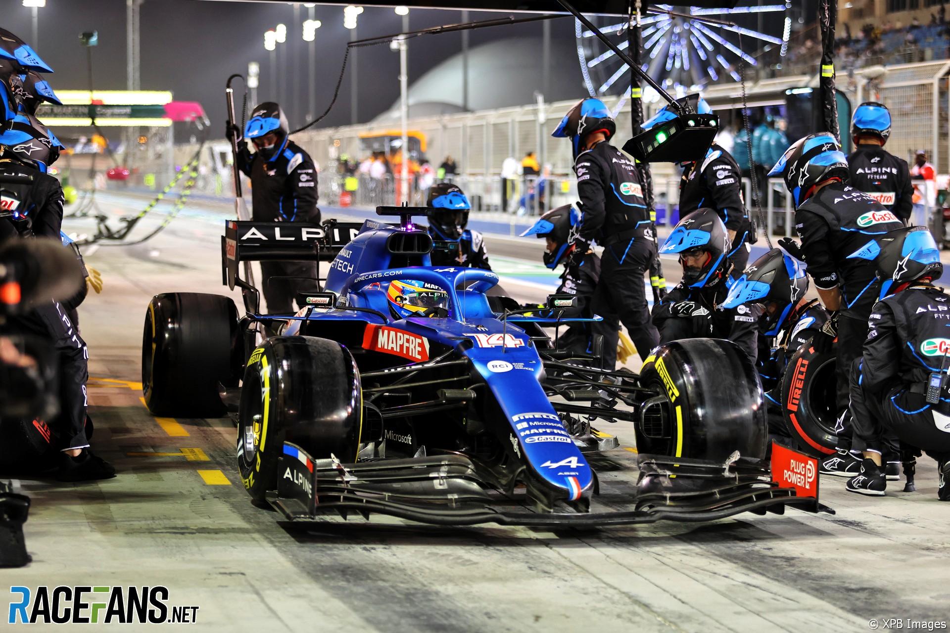 Fernando Alonso, Alpine, Bahrain International Circuit, 2021