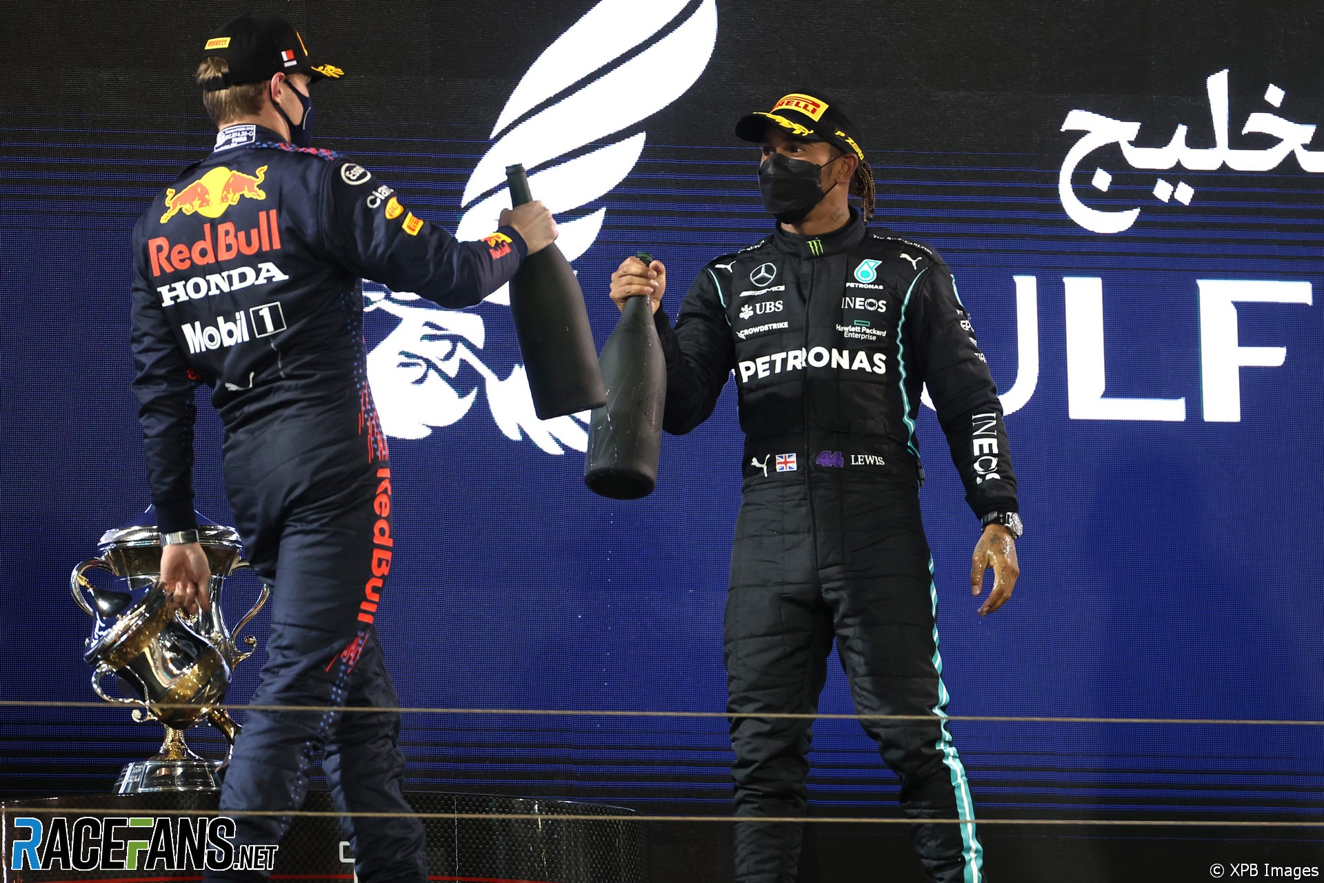 Max Verstappen, Lewis Hamilton, Bahrain International Circuit, 2021