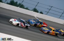 Mark Martin, Ted Musgrave (16) and Kenny Wallace, NASCAR